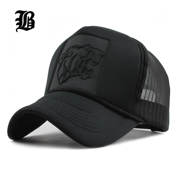 [FLB] 2017 Hip Hop Black leopard Print Curved Baseball Caps Summer Mesh Snapback Hats For Women Men casquette Trucker Cap