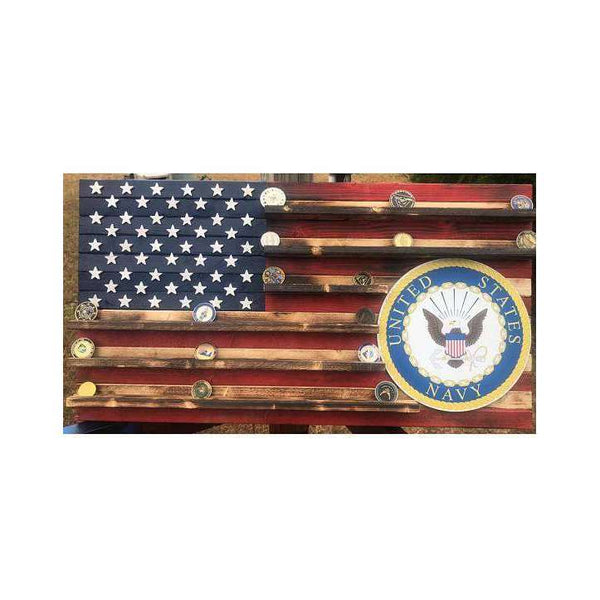 19x36 Navy challenge 60-70 coin rack flag