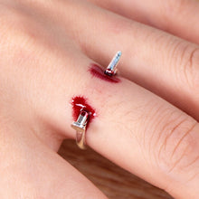 1PC Adjustable Nails Halloween Creative Unisex Horrifying Finger Ring Ring Simple Style for Halloween Party Women Gifts
