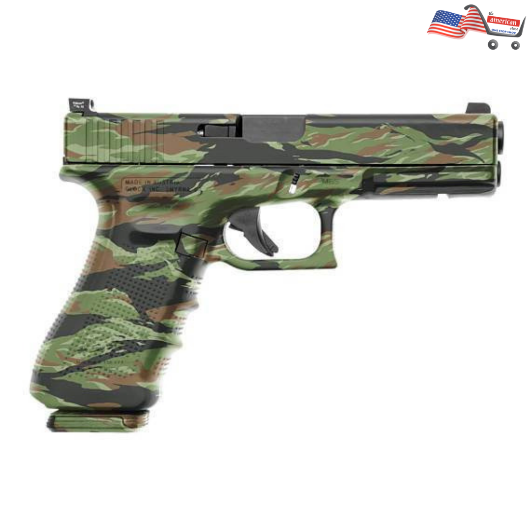 Camouflage GunSkins with Vietnam Tiger Stripe- Fit any Semi-Automatic Pistol