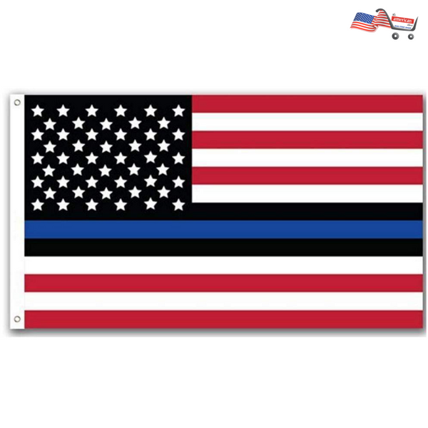 2017 New Arrival High Quality Red and White Stripe Flag | Thin Blue Line American Police Flag Lives 3x5 Foot Metal Grommets