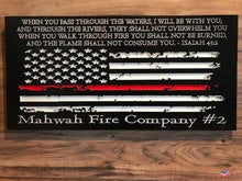American Flag Christmas Custom Sign | Rustic Home Decor For Firefighter Personalized Gift