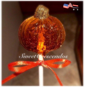 Halloween and Fall themed Lollipops- Old Fashioned Hard Candy & Pumpkin- Harvest- Thanksgiving- Halloween Candy