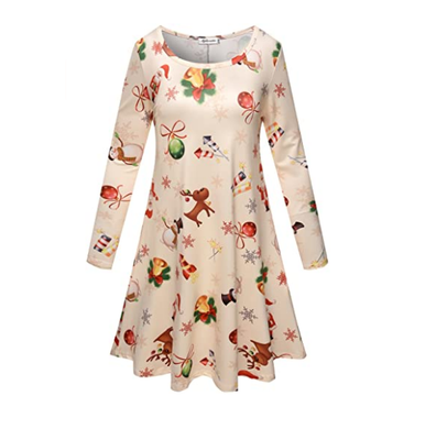 Autumn Winter New Women Christmas Dresses Long Sleeve O Neck Christmas Tree Snowman Printed Slim Dress Knee Length Big Size F40
