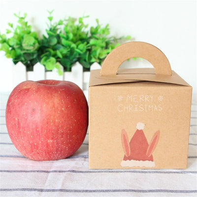 1pc/2pcs Merry Christmas Packaging Candy Box Christmas Eve Apple Box Party Cake Dessert Paper Box Festival Gift Wrap
