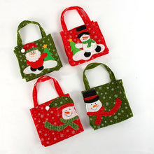 1pc Creative Christmas Tree Snowman Santa Claus Candy Bag Handbag Home Party Decoration Gift Bag Christmas Supplies