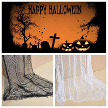 1PC Gauze Sheer Gauze Element Yarn Roll Black and White Atmosphere rendering Party Decor Halloween Decoration