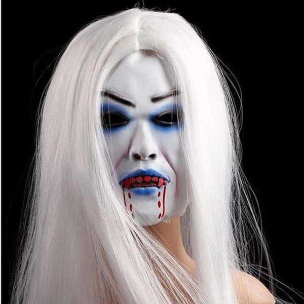 1Pc Horrible Creepy Toothy Ghost Mask Halloween Decoration Prop Latex Rubber Halloween Mask Masquerade Masks Men Women