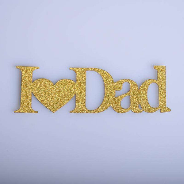 1pc I Love Mom Dad CupCake Cake Toppers Cake Flags Father's Day Mother's Day Thanksgiving Day Parents Birthday Party Decorations