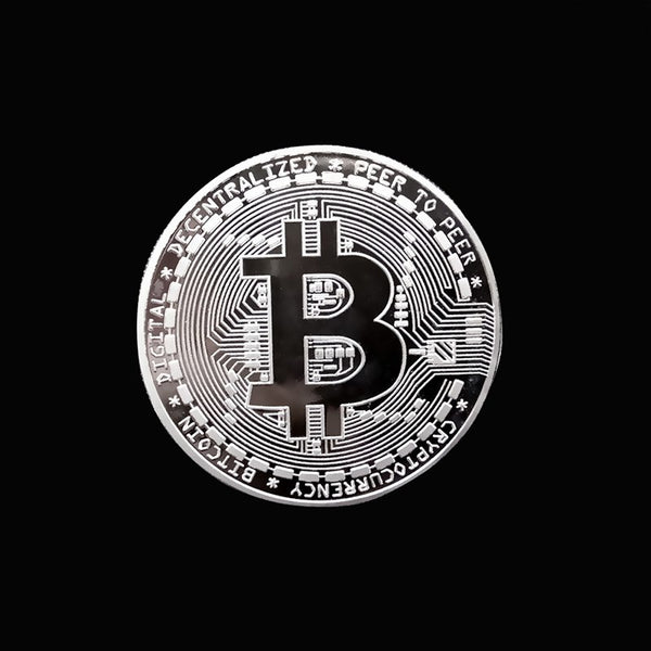 1pcs Gold Plated Bitcoin Coin Collectible Art Collection Gift Physical commemorative Casascius Bit BTC Metal Antique Imitation