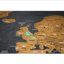 1Piece In Stock Deluxe Scratch Map / Deluxe Scratch World Map 82.5 x 59.5cm Black Map Scratch