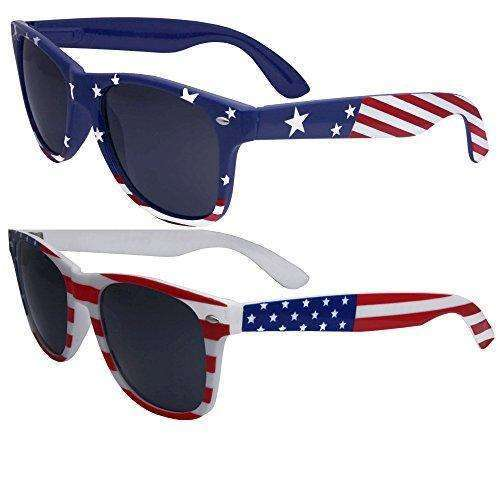 2 Pairs Bulk American Sunglasses USA Flag Classic Patriot