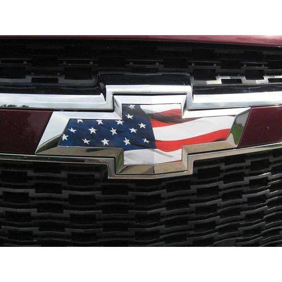 2013 2014 2015 Chevy Malibu American Flag Grille and Trunk lid Overlay  Bowties U-Cut DIY Vinyl Kit Decal Lot Set of 2