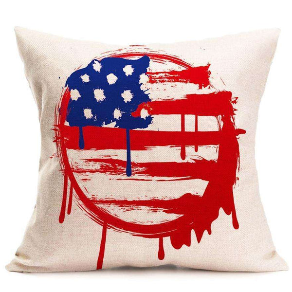 2017 New Vintage American Flag PillowCases decorative throw pillow home decorative throw pillow case vintage