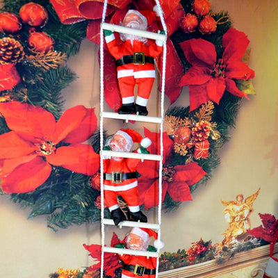 2018 Christmas Christmas Pendant Ladder Christmas Santa Claus Doll Tree New Year Decorations Drop Ornaments