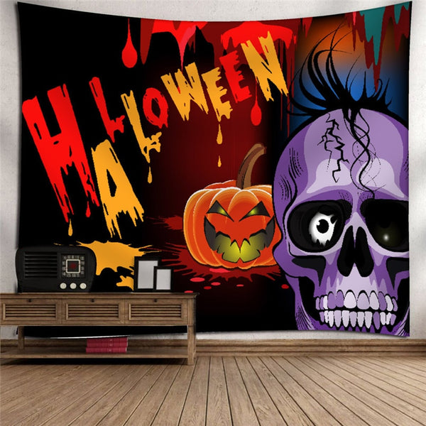 2018 Hot Halloween decoration Tapestry Halloween Moon Pumpkin Tapestry Room Bedspread Wall Art Hanging Home Decor Grand @40