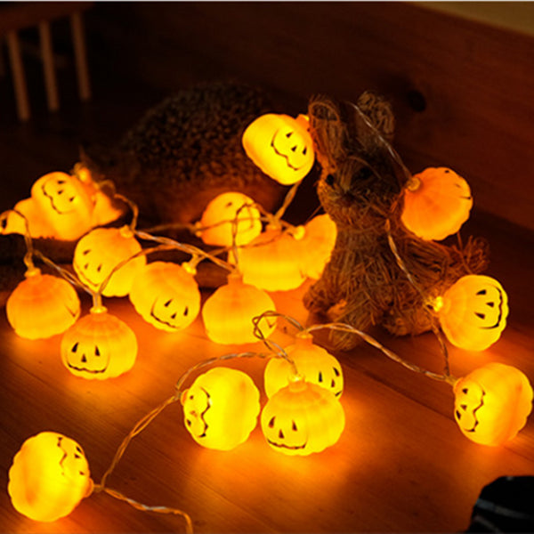 2018 New 1 Set Pumpkin 10 LED String Lights Halloween Decoration Lights Warm White Halloween Home Decoration Accessorie