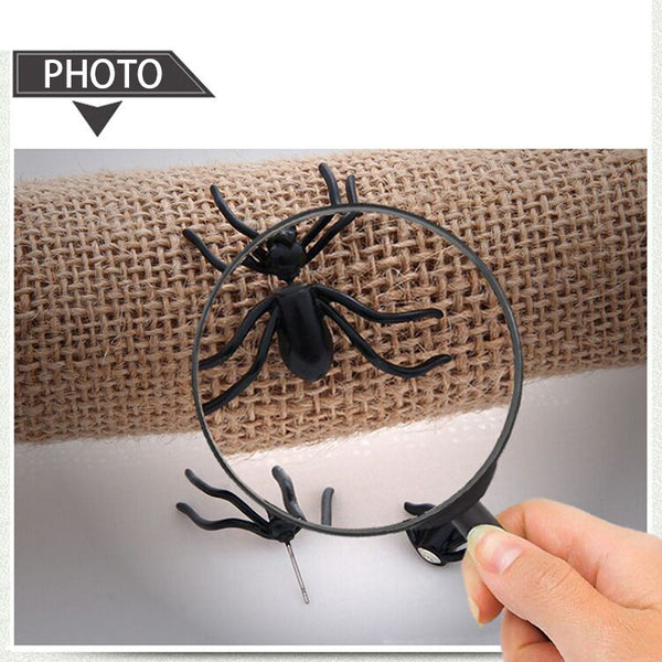 2018 New Halloween Decoration 1Piece 3D Creepy Black Spider Ear Stud Earrings for Haloween Party DIY Decoration Home Decor