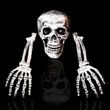 2018 Skeleton Christmas Prop 100% Plastic Lifelike Human Bones Skull Figurine for Horror Halloween Party Decoration
