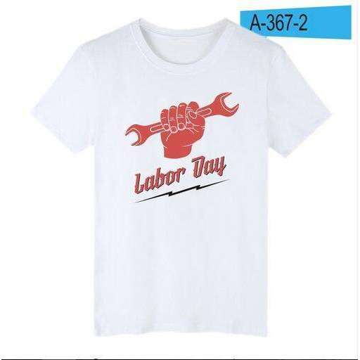 2018 Aikooki New Labor Day T -shirt Men/women Fashion Cotton Short Sleeve Men's T-Shirts Summer Casual Top Clothes