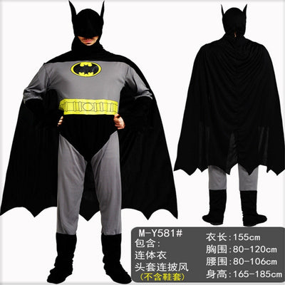 2018 new Black Batman costume for man womens Super hero Couple Cosplay clothing Masquerade Party Halloween costumes for Couple