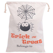 2018 NEW Halloween Printing Spider Pumpkin Canvas Bags Beam Port Drawstring Sack Candy Gift Bags Treat or Trick Party Decoration