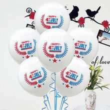 2019 American National Independence Day 4th Of July Red And Blue Print Balloons 10 Pcs Party Favors Supplies Decoration
