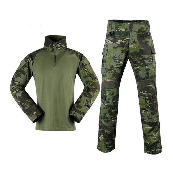 2019 MTP 1/4 Zip  long sleeve Combat G3 Frog suits Mandrain Collar Multicam Tropic Tactical Shirt  MTP Army Combat shirt & pants