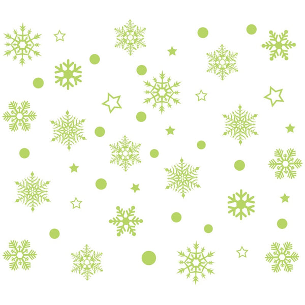 2019 New Year Merry Christmas Decorations for Home Luminous Snowflake Background Decorative Sticker Removable Navidad Natal