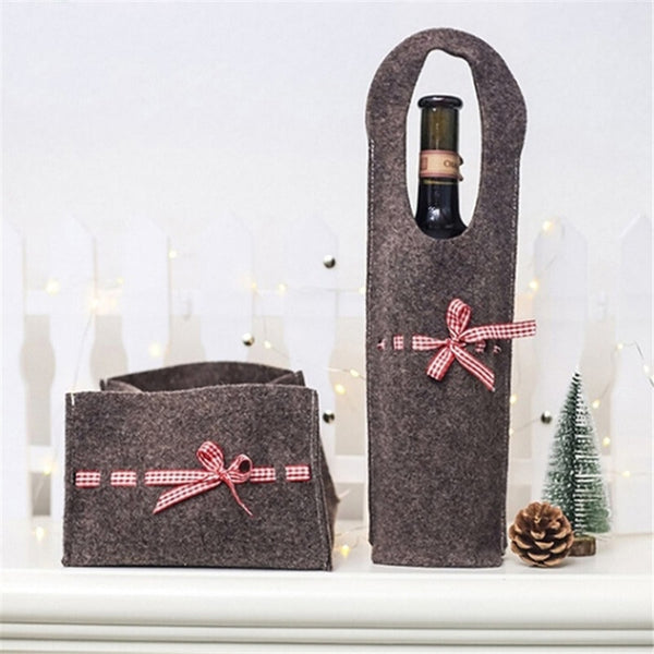 2019 Popular Creative New Merry Christmas Santa Wine Bottle Bag Cover Xmas Dinner Party Tables Decor Gift Bag Wrap