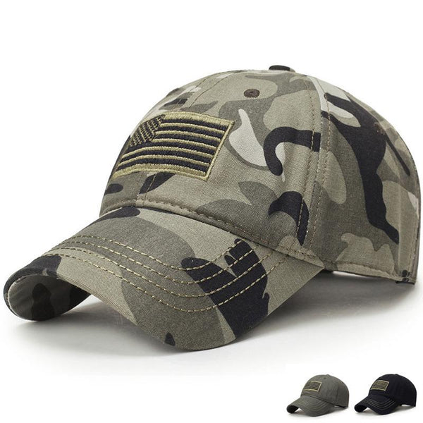 2019 new Men USA Flag Camouflage Baseball Cap Army Embroidery Cotton Tactical Dad Hat Male Summer Sports caps leisure Golf hats