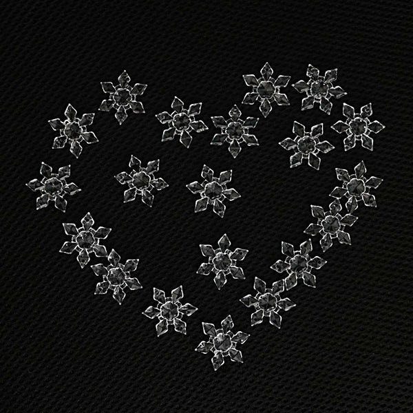 20PCS/Pack Christmas Ornament White Snowflakes Acrylic Craft Christmas Snowflake Tree Window Christmas Decorations For Home