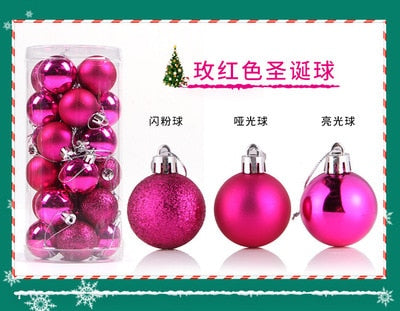 Christmas Tree Balls Baubles Glitter Hanging Xmas Party Ornament Home Decoration