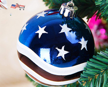 Patriotic Ball Ornaments | Tree Balls Decorations for America Independence Day & Christmas Party