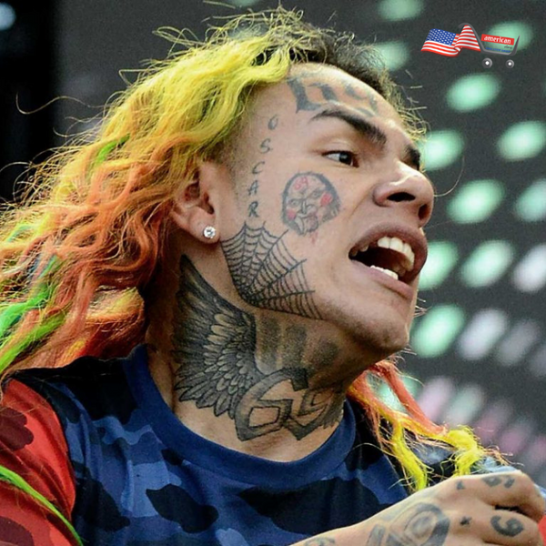 Halloween Costume Tekashi 69 Neck Temporary Tattoo