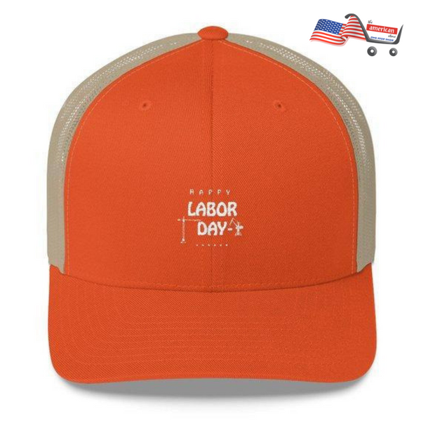 Monogrammed Trucker Cap For Happy Labor Day | The American Store