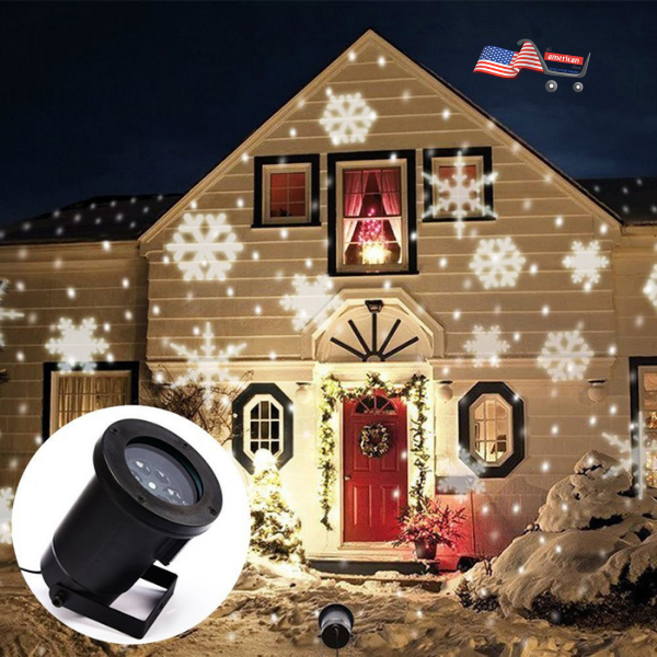 12Patterns Christmas LED Laser Projector Light Moving Indoor Outdoor Garden Lamp