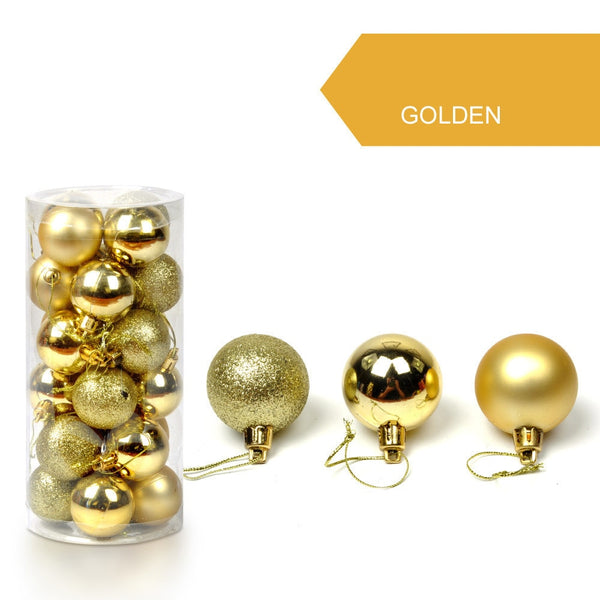 30mm Christmas Xmas Tree Ball Bauble Hanging Home Party Ornament Decor packaging christmas merry christmas decoration
