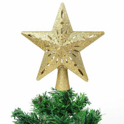 3D Hollow Star Christmas Tree Top Rotatable LED Snowflake Projector Lights Enhance Holiday Atmosphere Decor