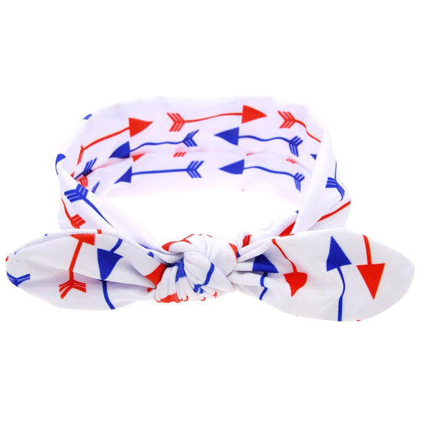 4 pcs/lot , 4th of July Knotted Headwraps, Independence Day Top Knot headband