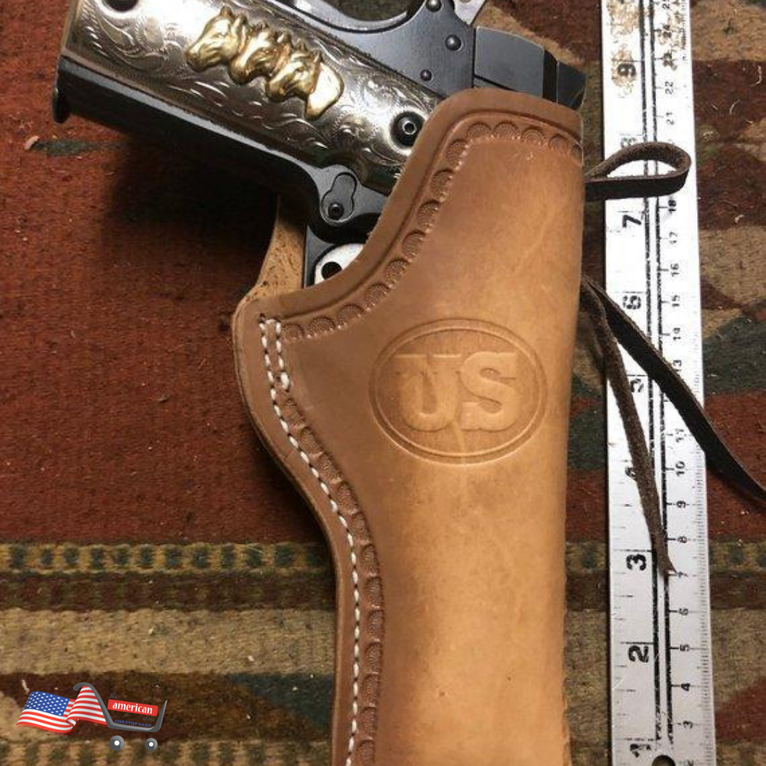 Fits: Colt Model 1911 Leather Western Open Top Holster | Springfield Ruger  RIA Taurus 45