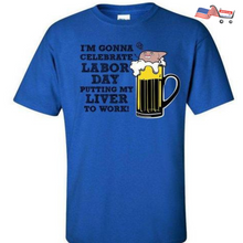 Labor Day Long Weekend T- Shirt Drinking T-Shirt Funny Labor Day T-Shirt