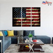 American Rustic Patriotic 3 Panel US Flag | Deployment Gift for Firefighter and Police Officers
