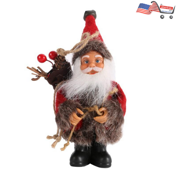 Xmas Happy Year Gift - Cute Santa Claus Doll Toy for Christmas Tree Ornaments Decoration Exquisite For Home