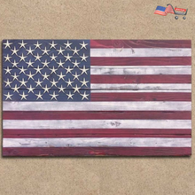 Starfish American Wooden Wall Flag - American flag 4th of July