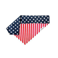 4th of July Dog Bandana, Patriotic Dog Bandana, American Flag, Stars and Stripes, Over The Collar, Slip On, Slide On, Red White and Blue