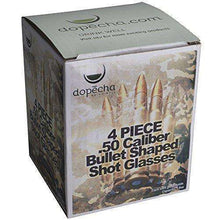 50 Caliber Bullet Shaped Shot Glasses 4 Pack | Durable Dual Layered 1.5 Oz Novelty Gag Funny Glasses Dishwasher Safe | For Shots, Drinks, Tequila, Whiskey, Beer, Espresso, Beverages & More by DOPECHA