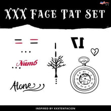 Face Temporary Tatoos Set - Inspired by XXXTentacion