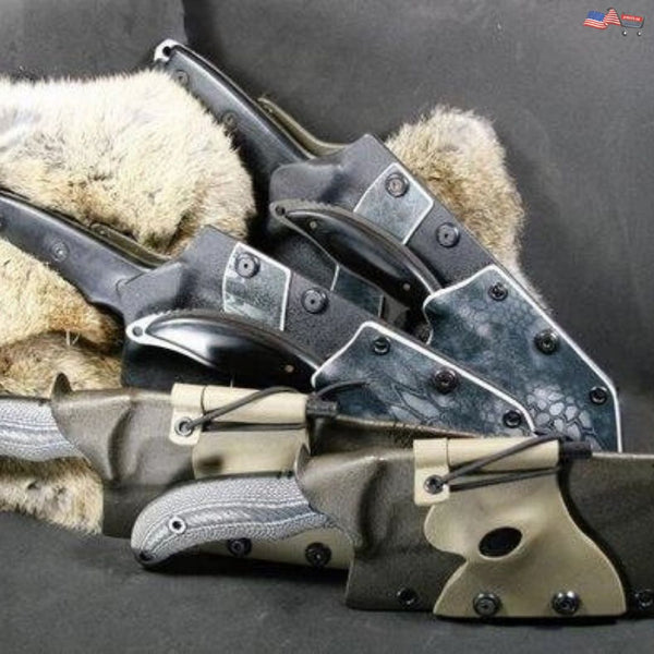 Schrade Knife - Kydex Sheath | Night Stalker | Firestarter and Button Light