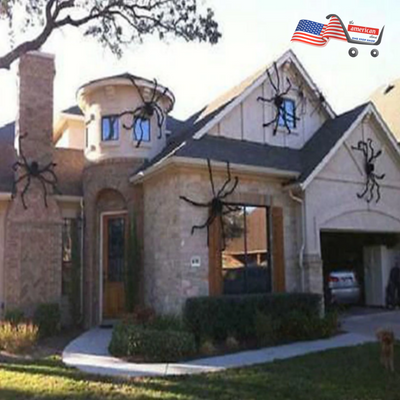 Halloween Decoration Spider 1Pieces  Black Huge Spider Used for Halloween or Parties Decoration